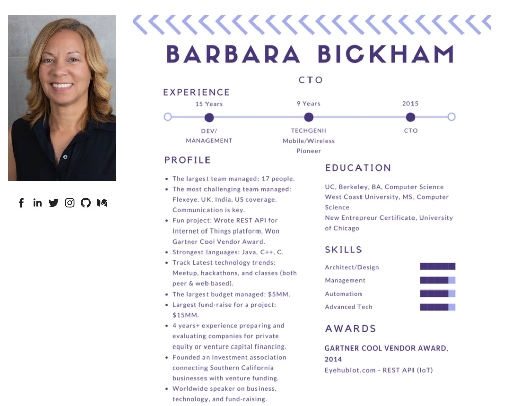 Barbara Bickham, CTO, Entrepreneur founder of the International Blockchain Accelerator