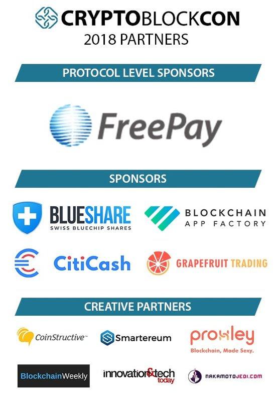 CryptoBlockCon Sponsors and Creative Partners