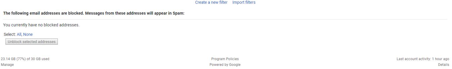 Create New Filter Screenshot