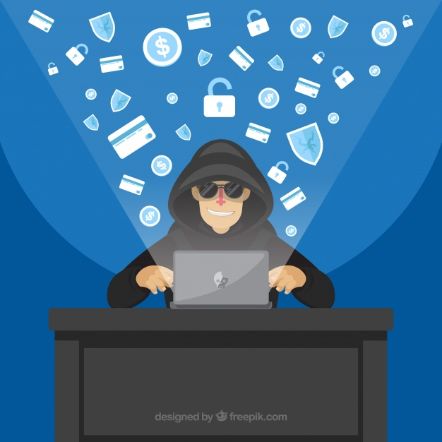 Picture of hacker created by Freepik