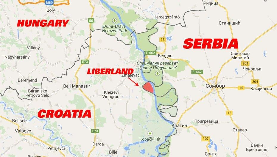 liberland location map